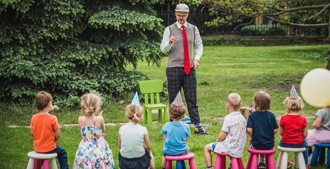 Dětská oslava s klaunem