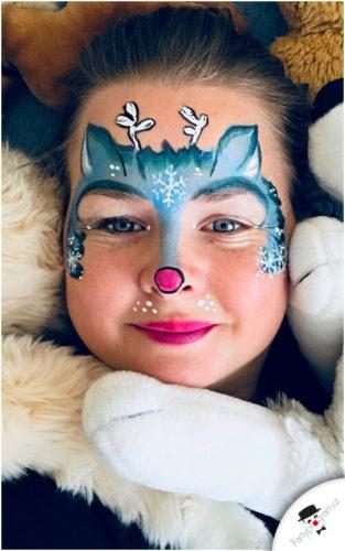 Malování na obličej se zimní tematikou