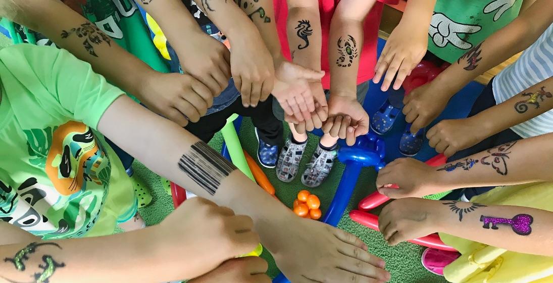 Dočasné tetování pro děti